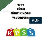 Kpss 2014 Sozel Mantık Çalısma Soruları