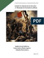 Bases para estudiar la violación de los derechos humanos en  el  Municipio de Fuentedeoro ( Meta)