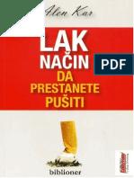 Alen Kar-Lak nacin da prestanete pušiti KNJIGA