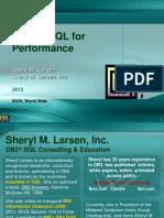 IDUG 2013 Sheryl Larsen Tuning SQL