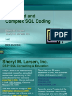 IDUG 2013 Sheryl Larsen Advanced SQL Coding