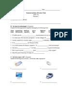 Examen en blanc (Practice Test) Unité 3 Français 2