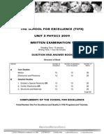 2009 TSFX Physics U3