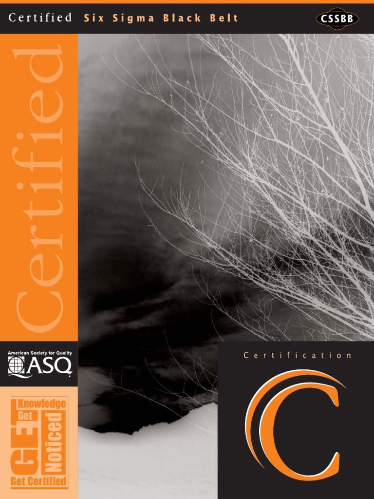Certified Six Sigma Black Belt Asq Cssbb Professional