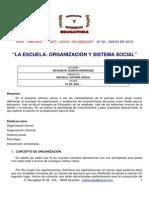 LEC 11. LA ESCUELA ORGANIZACIÓN Y SISTEMA SOCIAL.