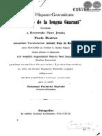 VOCABULARIO DE LA LENGUA GUARANI - PAULO RESTIVO - MONTOYA - PORTALGUARANI