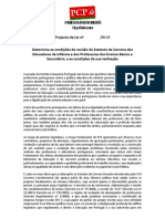 Determina condições da revisão Carreira Educadores Infância (   )