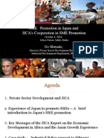 Sme Promotion in Japan and Jica-cooperation in Sme Promotionshimada 0