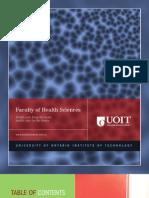 2010-2011 Faculty of Health Sciences Viewbook