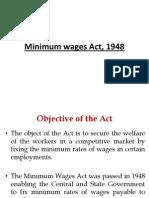 The Minimum Wage Act 1948