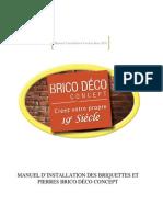 Manuel Installation Briquettes Pierres