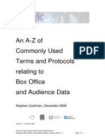an a-z of commonly used terms relating to box office and audience data