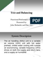 Functional Performance Testing - John Shelander
