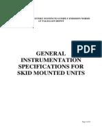 General Instrumentation Specifications