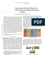 Economic Assessment of Green House for Cultivation of Float Based Seedling Production in India