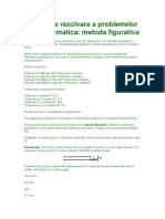 Metode de Rezolvare a Problemelor de Matematica