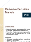 Derivative Securities Markets