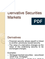 Derivative Securities Markets