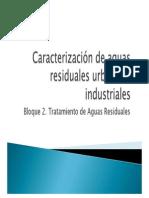 B2-T1-2014. Caracterización de aguas residuales