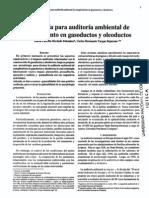 Metodologia Para Auditoria Ambiental, Cumplimiento en Gaseoductos y Oleoductos