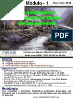1 - Licenciamento Ambiental de Obras de Saneamento- InEAA - 2013