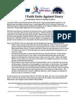 Faith Communities Oppose SB694