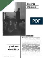 (Articulo) Valores morales y valores cientificos.pdf