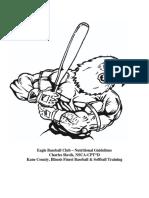 Eagle Baseball Club - Nutritional Guidelines