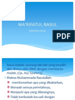 MA'RIFATUL RASUL