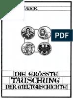 Ernst Hauck -Die grösste Täuschung der Weltgeschichte - Ein Gang durch die Evangelien-
