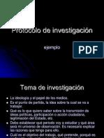 Protocolo de Investigacin. Ejemplo