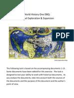 world history one dbq exploration 9 22 2011