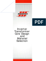 Inverter Transformer Core Design and Material Selection