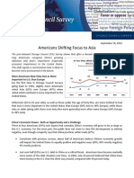 Americans Shifting Focus to Asia - 2012