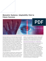 Biometric Systems Adaptability Vital to Future Success