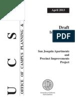 draft initial study - san joaquin apartments and precinct improvements project