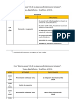 Programa Del Foro en Tijuana 10 de Marzo Del 2014