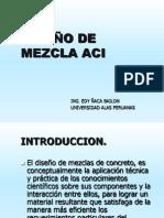 DISEÑO DE MEZCLA ACI se