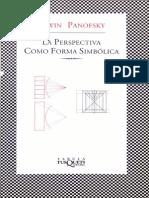 Panofsky Erwin La Perspectiva Como Forma Simbolica