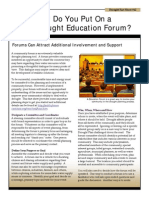 Sheet 12 - Planning an Education Forum