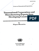 Blomström, Magnus (1990). Transnational Corporations and Manufacturing Exportsfrom Developing Countries