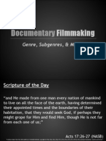 Genre, Sub-genres, & Modes of Documentaries