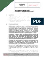PRACTICA N° 06 SAPONIFICACIÓN DE UNA GRASA VEGETAL