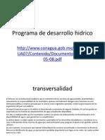 Programa de Desarrollo Hidrico