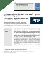Acute appendicitis Diagnostic accuracy of Alvarado scoring system.pdf