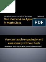 macul 2014 - ipad and apple tv