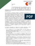 Convocatoria PCI 2009