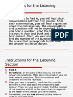 Tips for TOEFL Listening