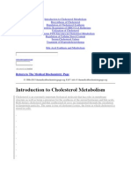 Introduction to Cholesterol Metabolism