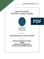 Course Portfolio Islamic Studies